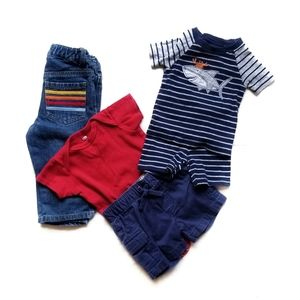 NWT Boys Big or LIttle Brother Navy Blue Shirt One Piece NB 6m 24m 2T 3T 4T 5T